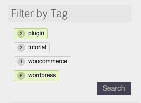An example of how the tag cloud might look - it is heavily dependent on your theme's CSS!