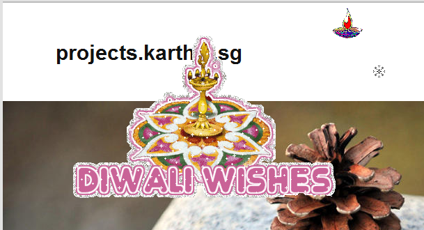 Diwali is the current festival and so the screenshot shows diwali wishes.