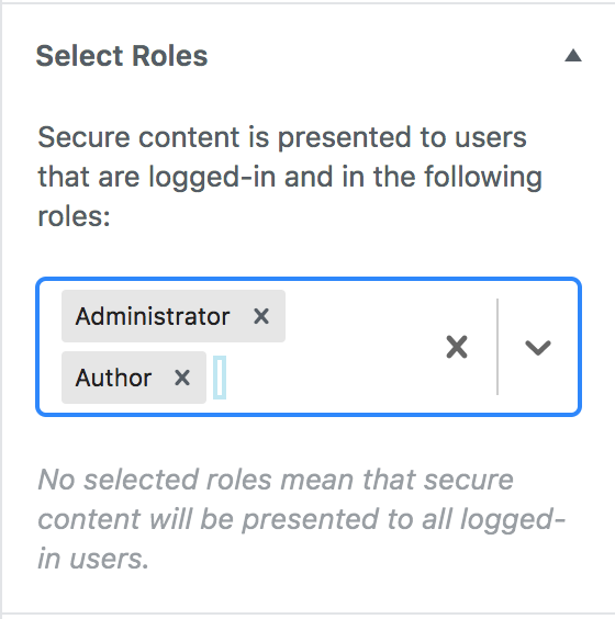 Locking down to certain user roles