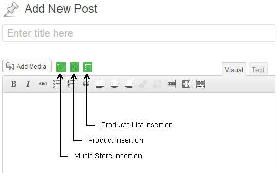 Insertion Interface for Products List