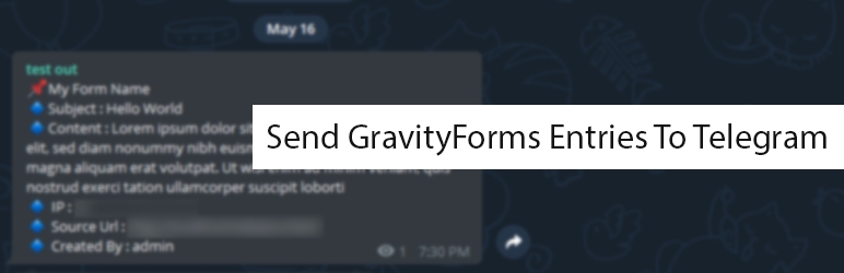Send Form Entries To Telegram