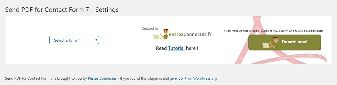 Send PDF for Contact Form 7 – WordPress plugin | WordPress org