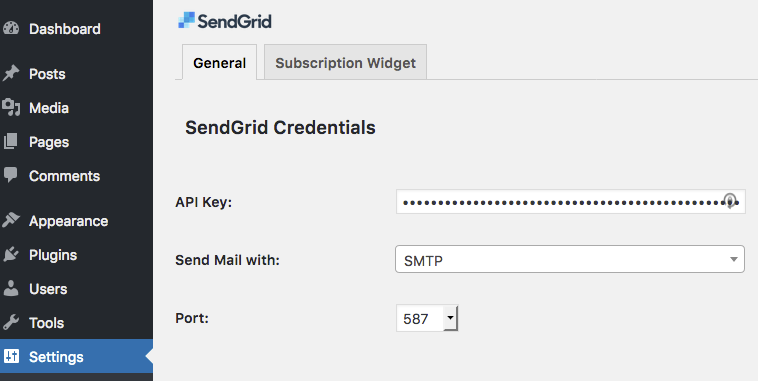 You can configure the port number when using SMTP method.