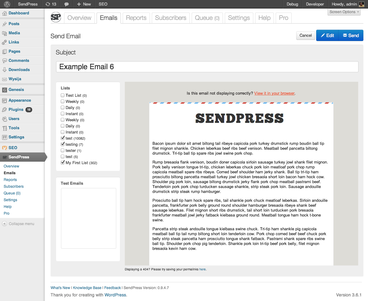 sendpress screenshot 3
