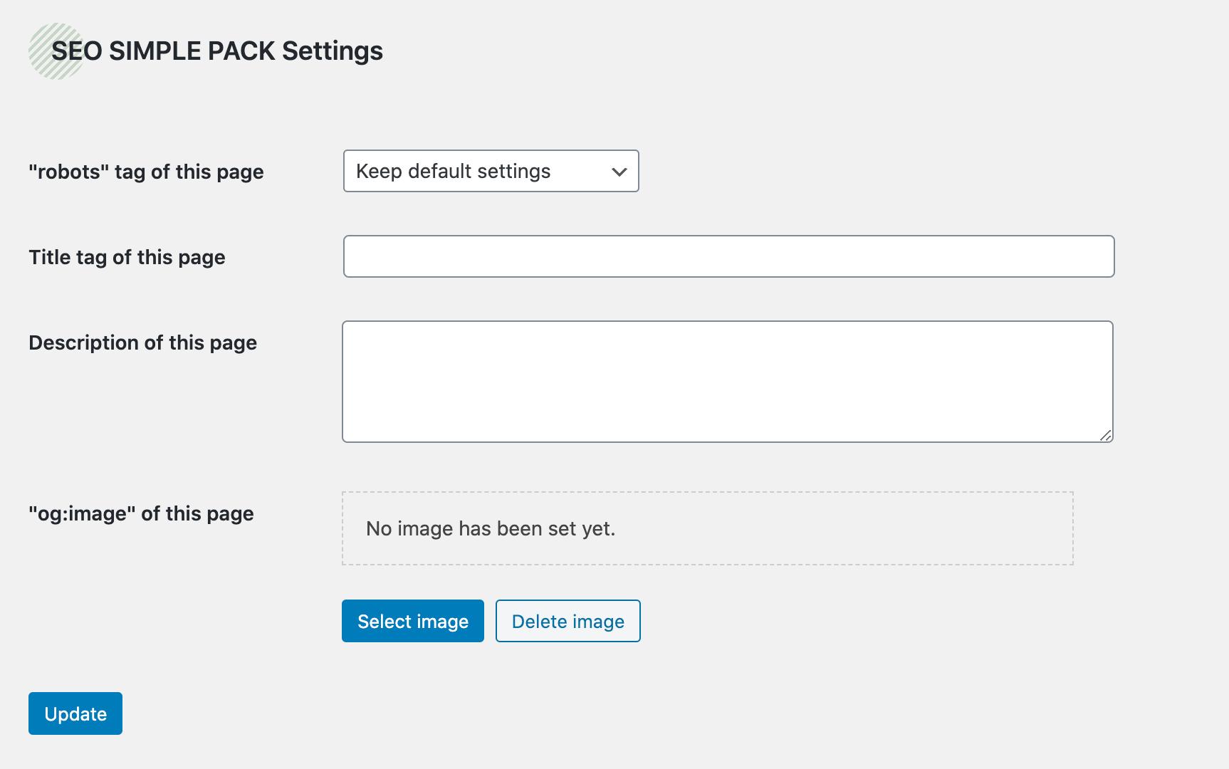 簡単設定で、メタタグの出力、OGPタグの出力などを行うプラグイン「SEO SIMPLE PACK」の画像|Knowledge Base