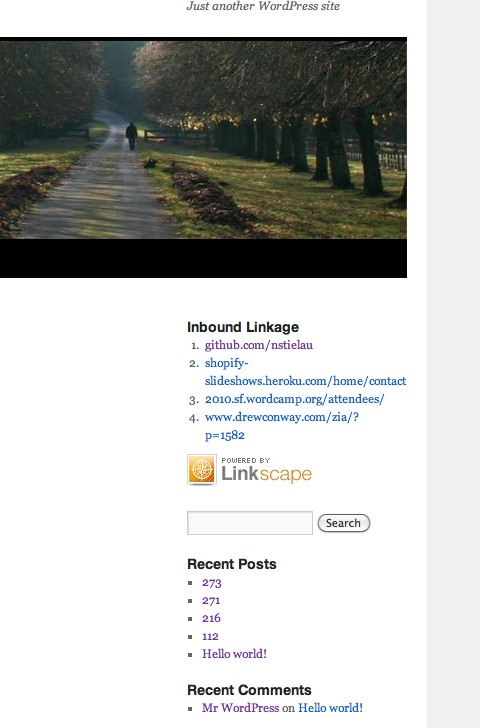 The inbound-link widget.