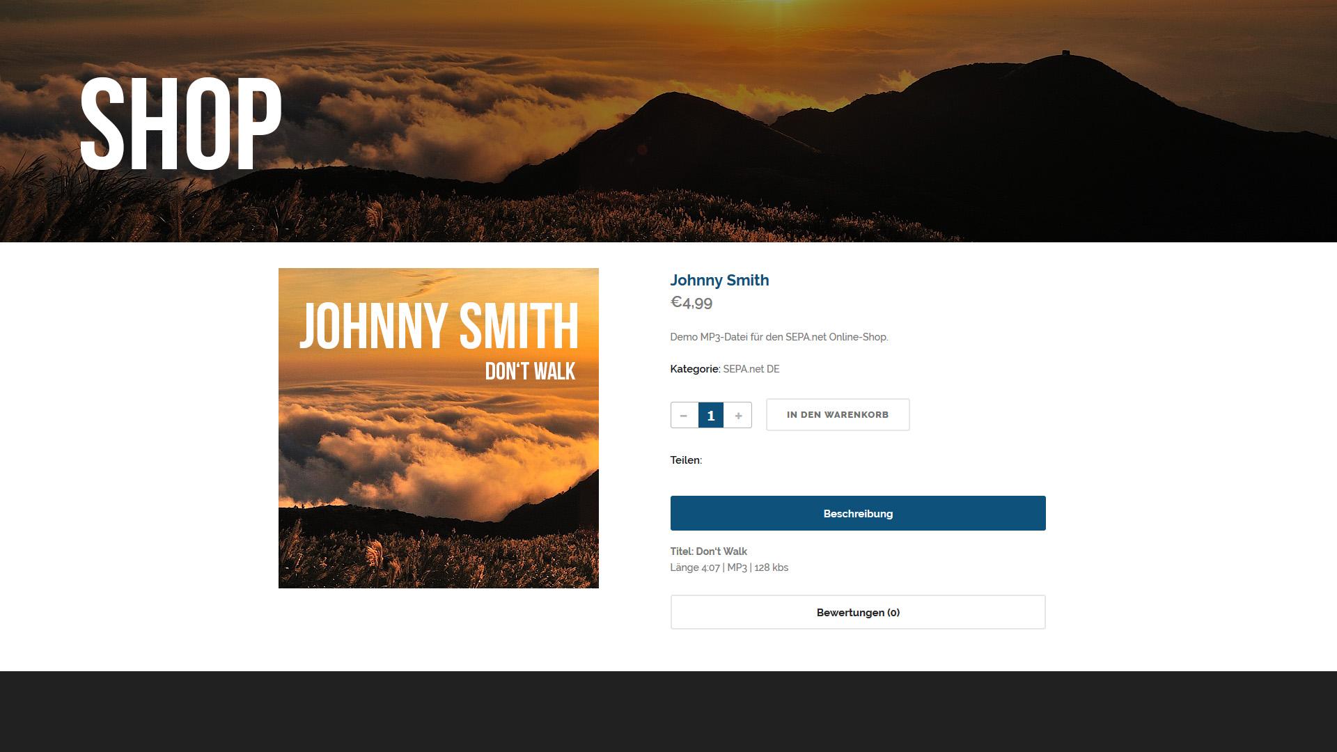 Beispiel-Integration in einem Online-Shop