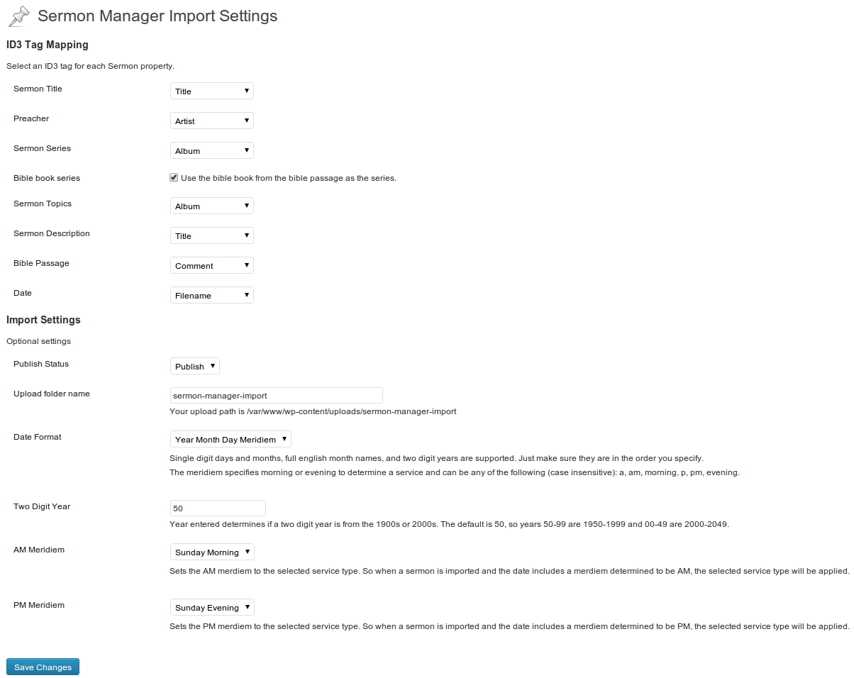 sermon-manager-import screenshot 3