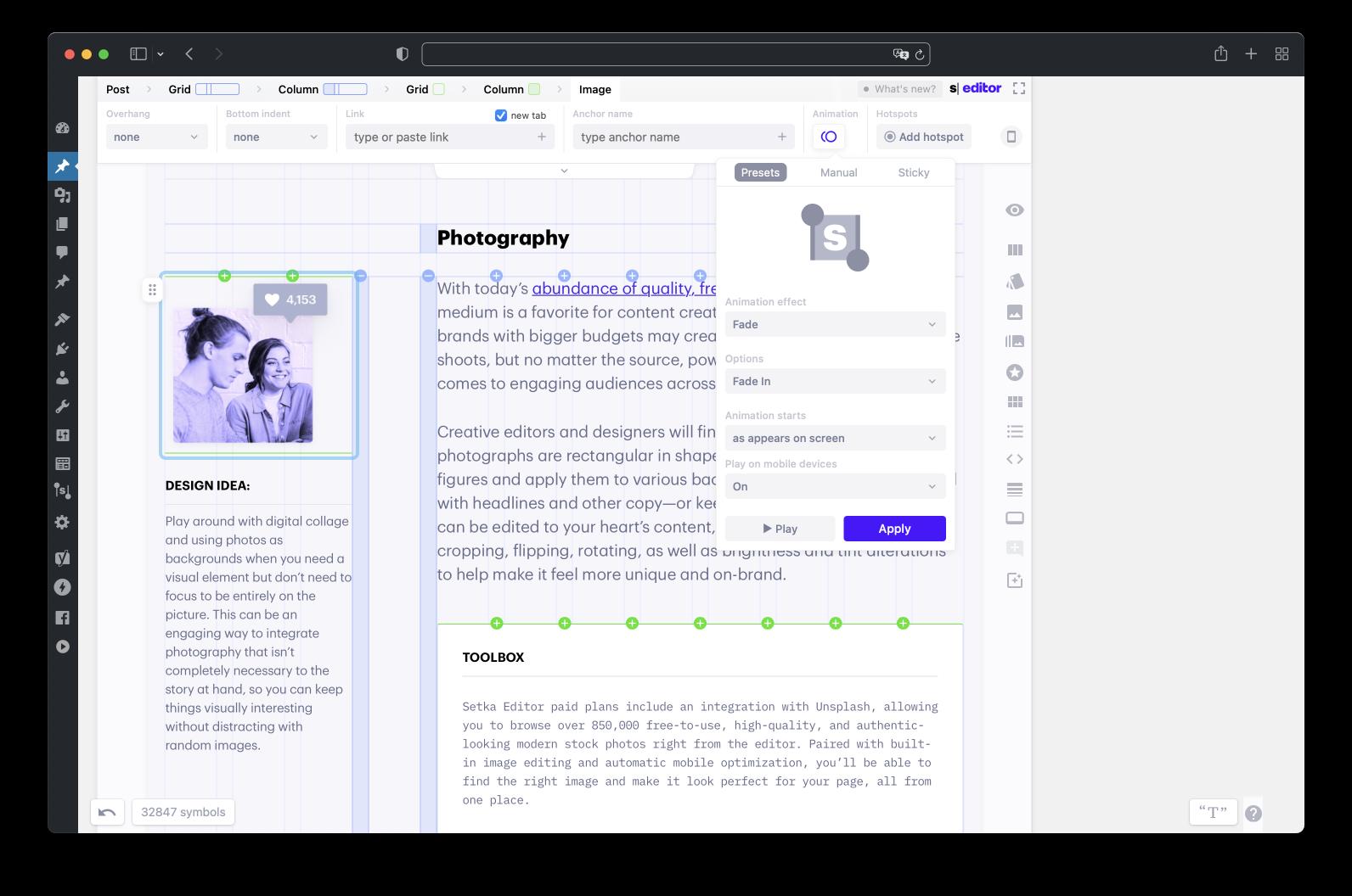 帖子页面构建器– Setka编辑器