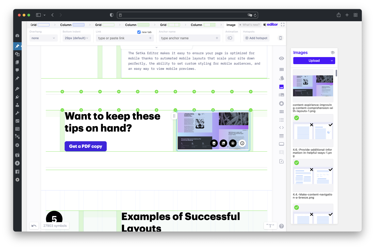 Create complex layouts byusing grid modules within your grid.