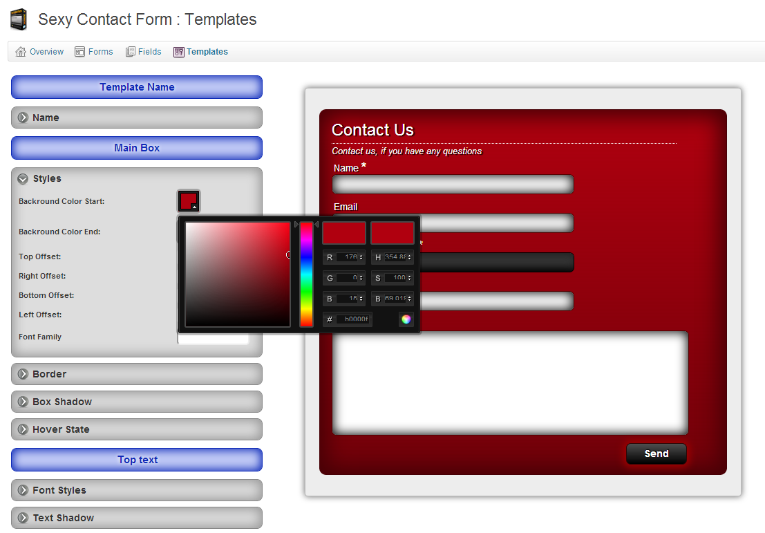 sexy-contact-form screenshot 6