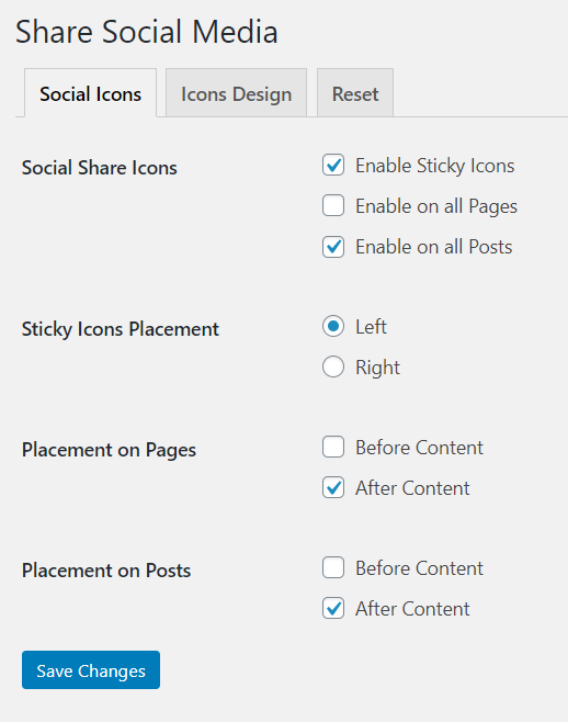 Social Icons to Page or Post