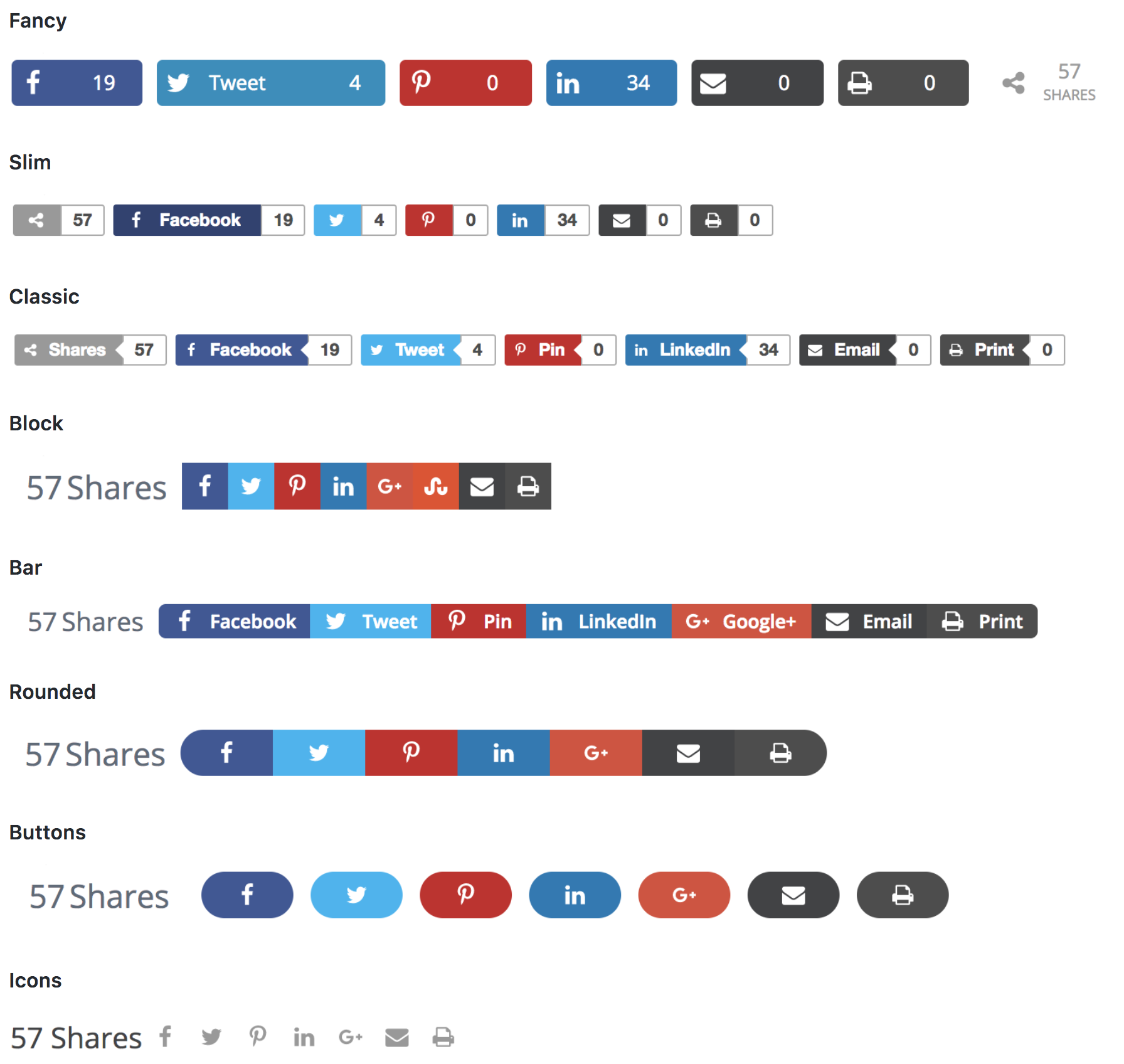 Shared Counts – Social Media Share Buttons – WordPress plugin ...