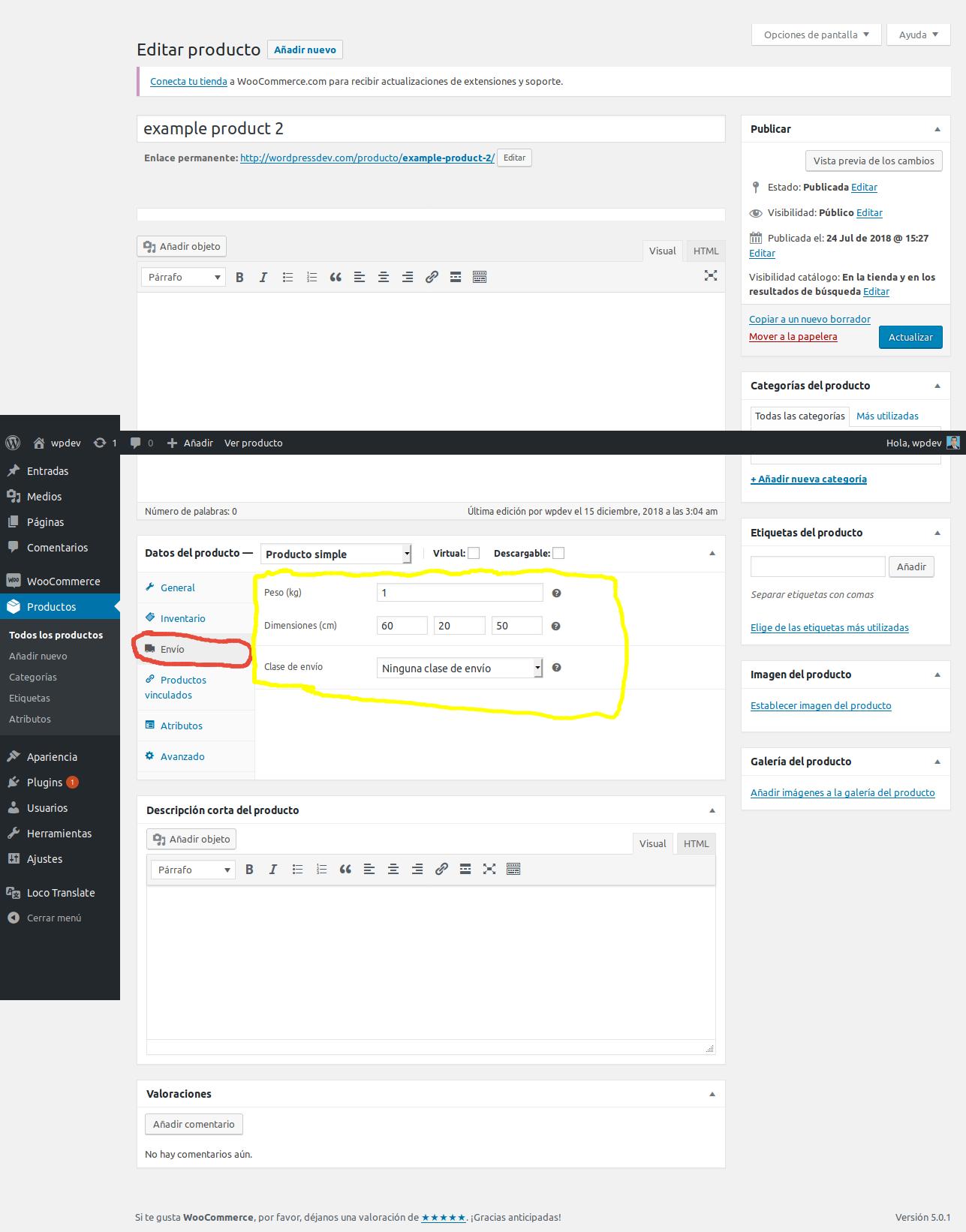 Establezca los detalles de envío del producto screenshot-2.png