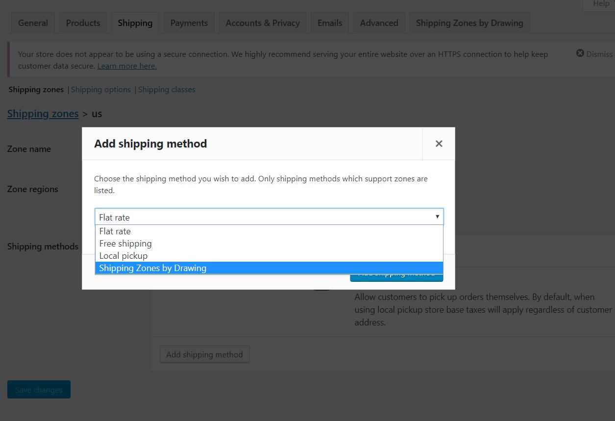 Add as shipping method