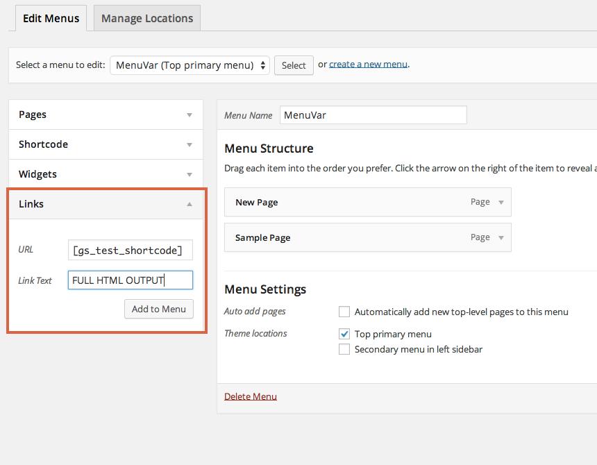 Shortcode in Menus – WordPress plugin | WordPress org