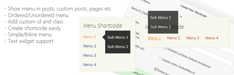 Shortcode Menu