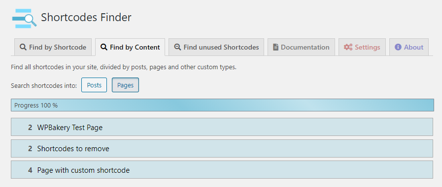 Test your existing shortcode or provide a test on new shortcode before insert it into your content.