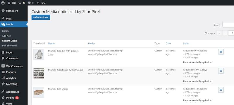 <p>Check image optimization details. (Media>Library->Edit)</p>