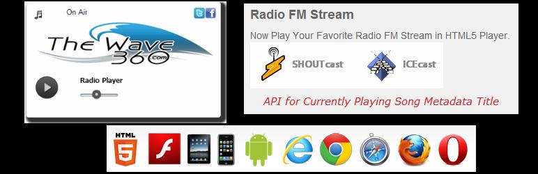 Shoutcast Icecast HTML5 Radio Player – WordPress plugin | WordPress org