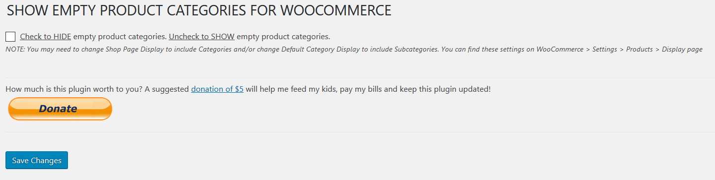 Show Empty Product Categories for WooCommerce