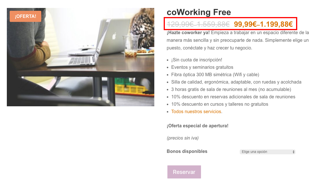 WooCommerce – Show only lowest prices in variable products