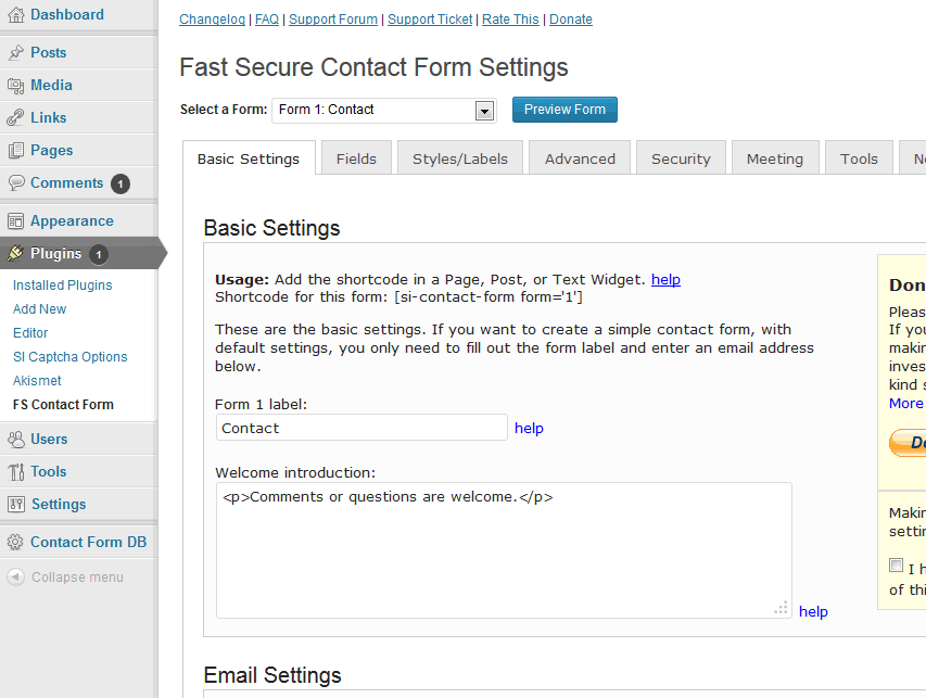 <p>screenshot-3.png is the <code>Contact Form options</code> tab on the <code>Admin Plugins</code> page.</p>