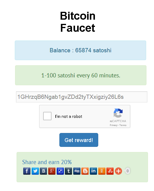 Simple Bitcoin Faucets