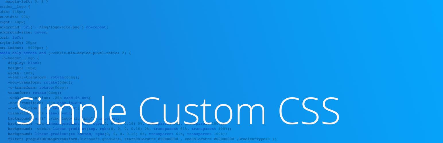 simple custom css wordpress org