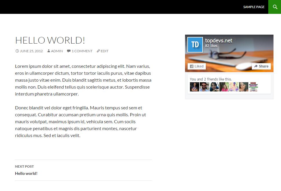 Simple Widget on your website.