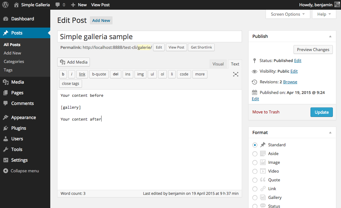 simple-galleria-for-wordpress screenshot 2