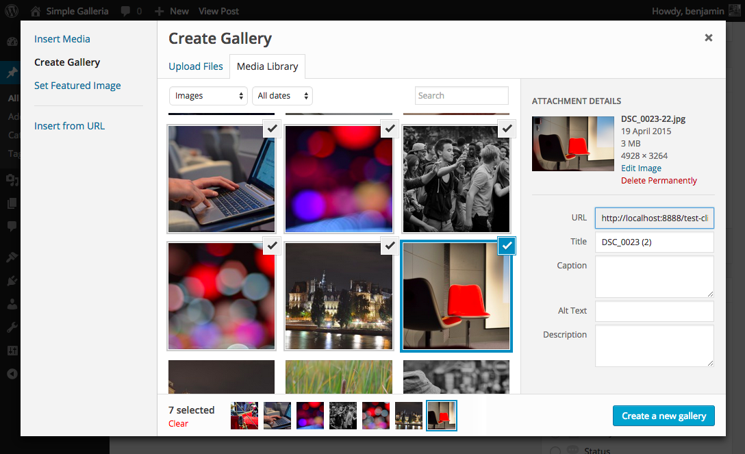 simple-galleria-for-wordpress screenshot 3