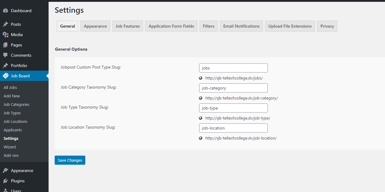 simple job board wordpress org