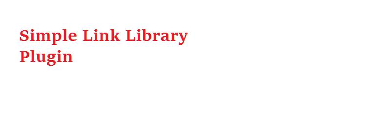 WordPress Simple Link Library