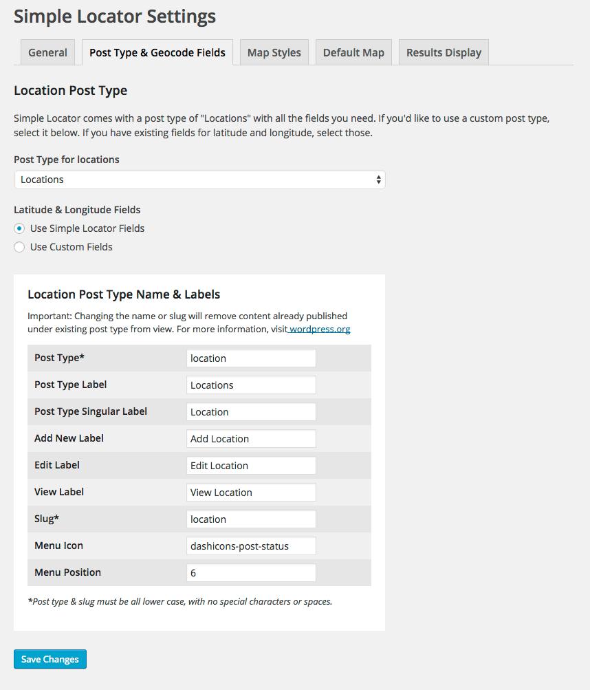 Simple Locator  WordPress Plugins - Show location on map using latitude and longitude php