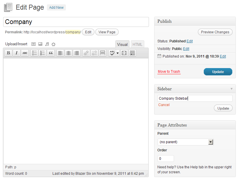 simple-page-sidebars screenshot 1
