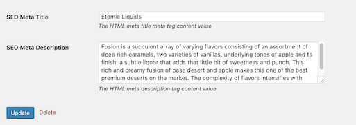 Simple Product Category Meta Editor