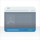 Simple PDF bar logo