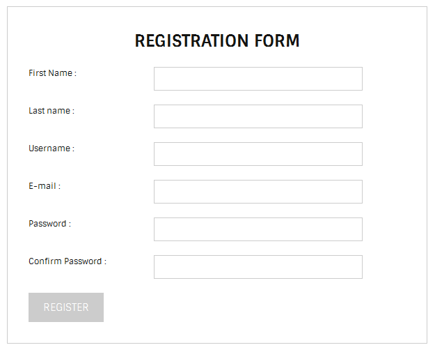 simple registration form wordpress org