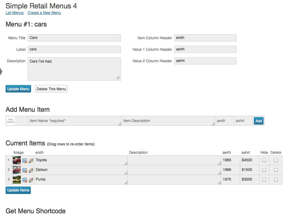 simple retail menus wordpress org