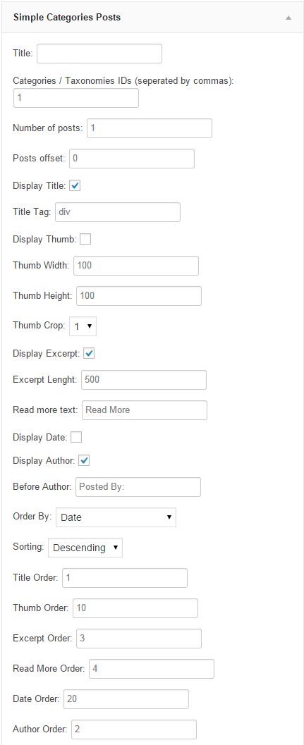 simple-seo-categories-posts screenshot 1