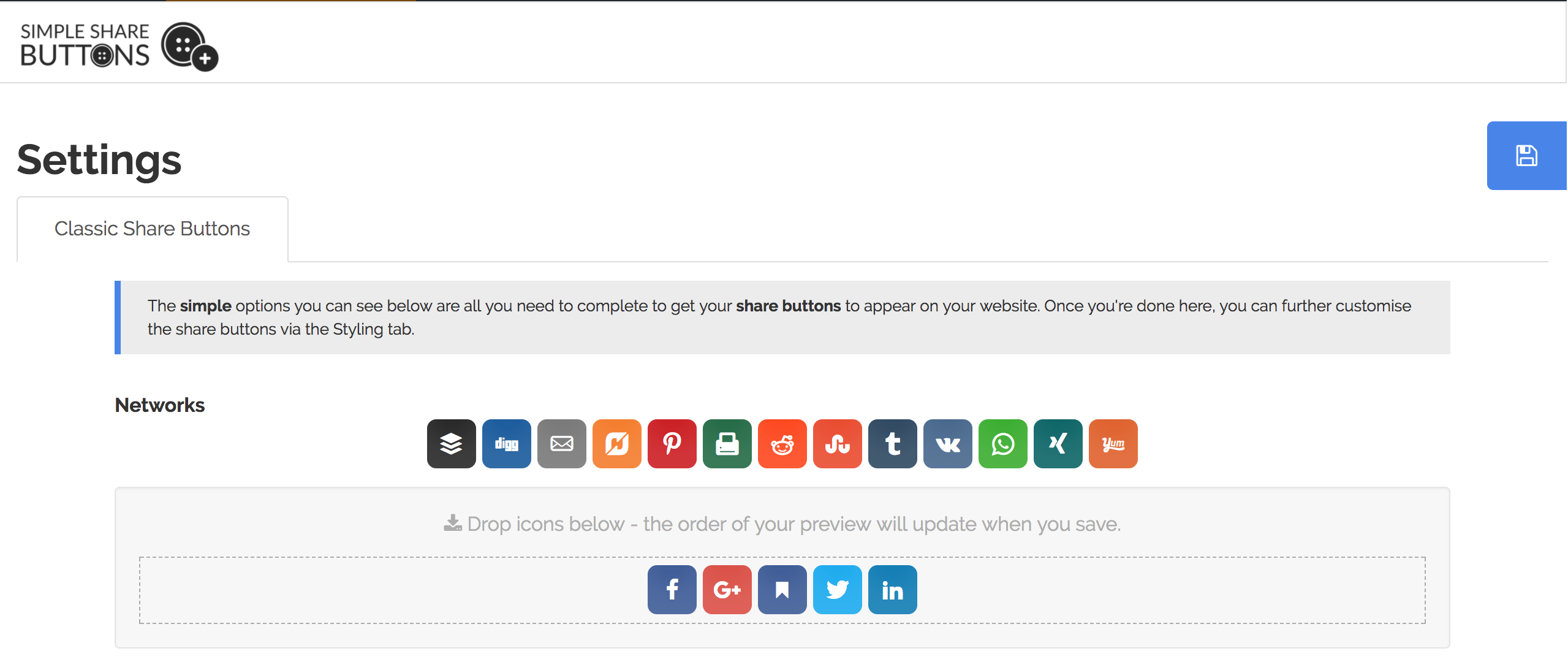 Simple Share Buttons Adder Screenshot