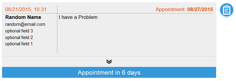 ticket with appointment