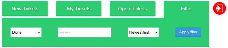 filter for tickets