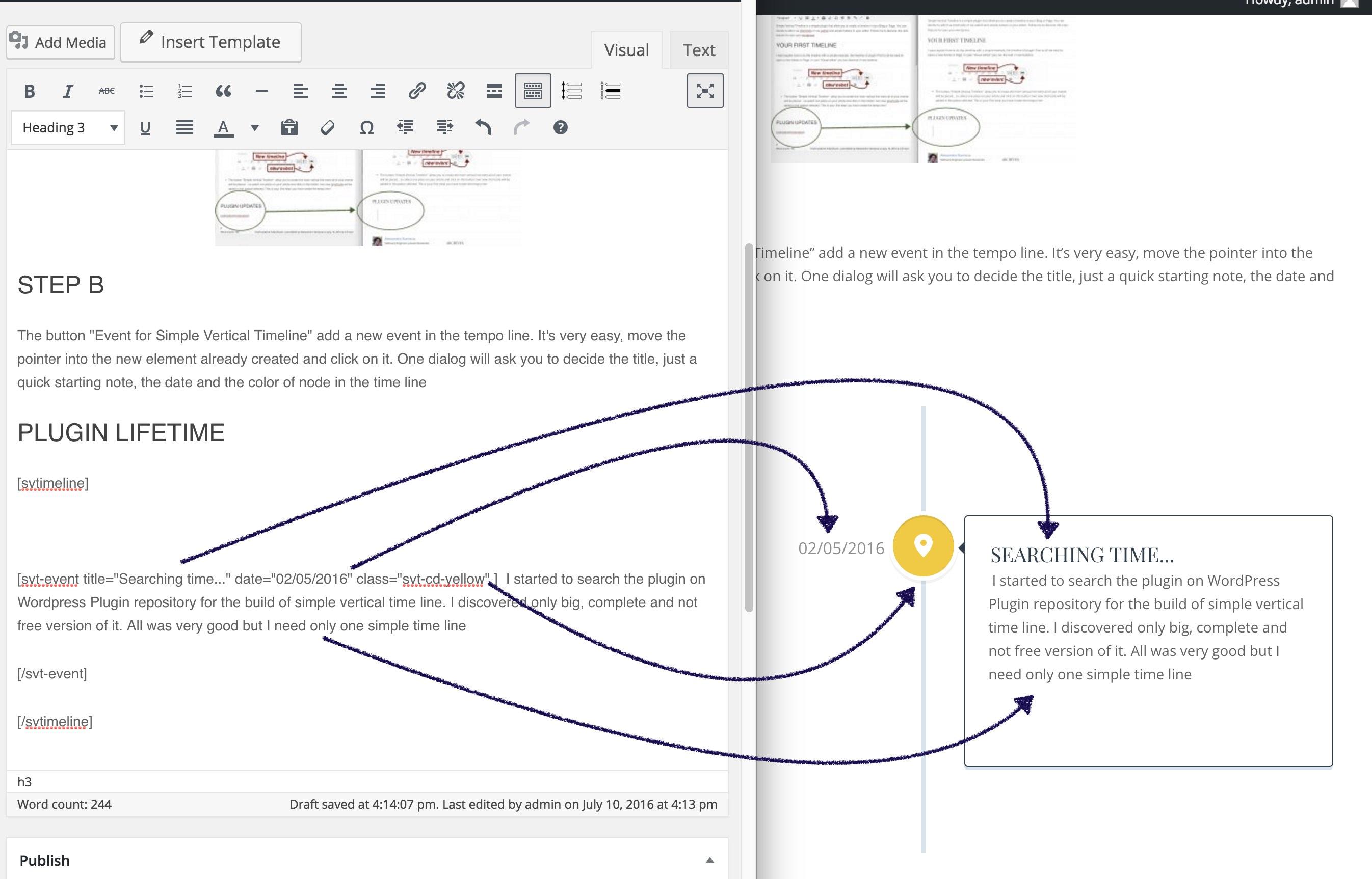 simple vertical timeline wordpress org