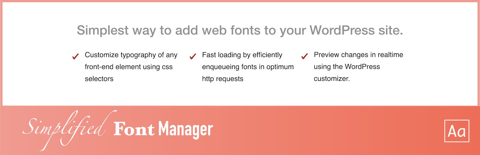Simplified Font Manager