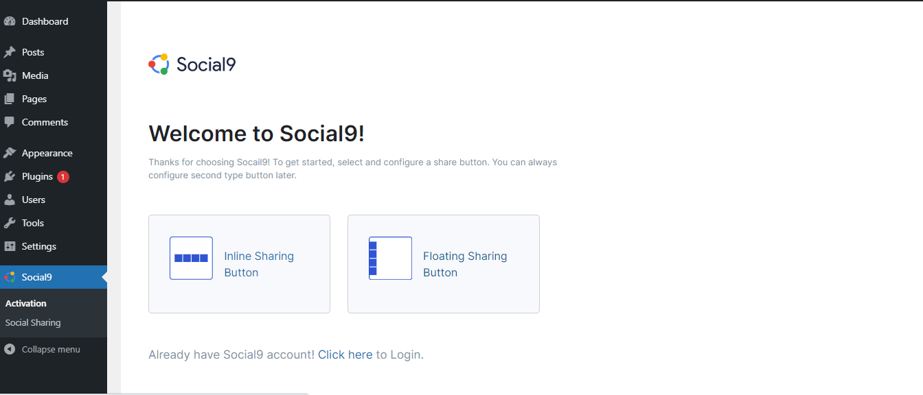 <strong>Social Sharing Admin UI</strong>: This is an example presentation social sharing. There are multiple themes available.