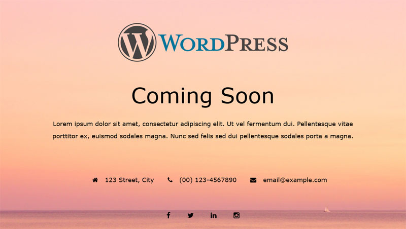Site Offline Or Coming Soon Or Maintenance Mode - WordPress.orgSite Offline Or Coming Soon Or Maintenance Mode - 웹