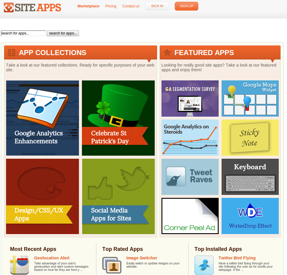 siteapps screenshot 1