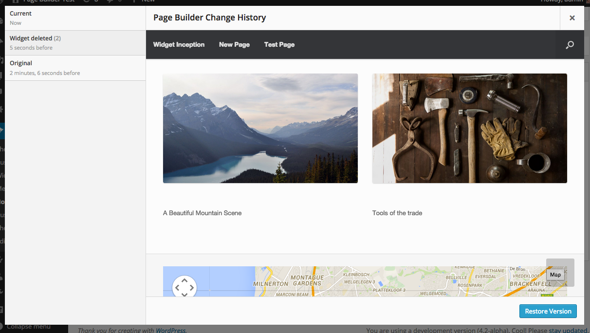 Undo changes with the History Browser.
